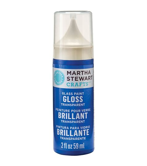 martha stewart crafts gloss transparent glass paint jo