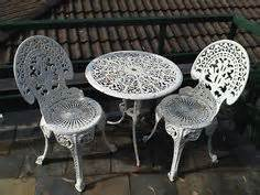 Cast Iron Patio Set Table Chairs Garden Furniture Vintage White Ornate Wrought Iron Chair Indoor Or Outdoor Barstool Absolutely My
