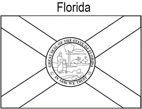 geography blog florida state flag coloring page