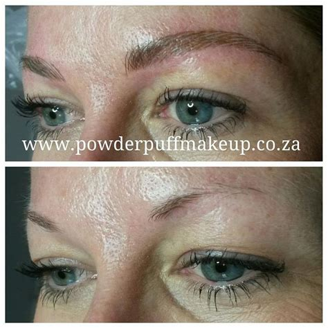 tattoo healing fuzzy ultra natural microblade eyebrow tattoo on oily skin by