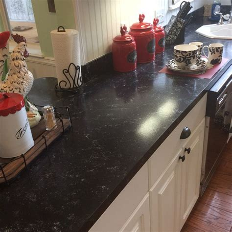 just used giani granite countertop paint kit love this faux granite counters for 80 using giani bombay black