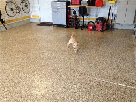Finish Garage Floor by Delaware Valley Concrete Coatings City Pa 19475