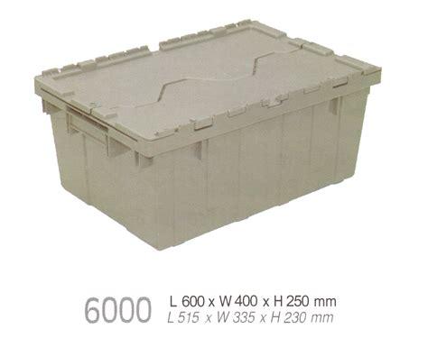 Keranjang Plastik Tutup nestable container besar tutup kode 6000 jual produk plastik grosir harga murah