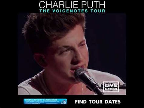 charlie puth voicenotes tour charlie puth the voicenotes tour 2018 youtube