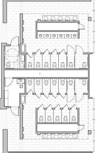 finish plan  public toilet restroom design toilet