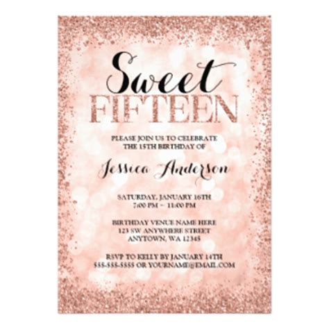 Sweet 15 Invitations Announcements Zazzle Sweet 15 Invitation Templates