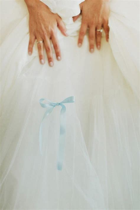 Something Blue Blue Ribbon Pinned Inside Her Dress | 10 incredibly sweet ways to add something blue to the