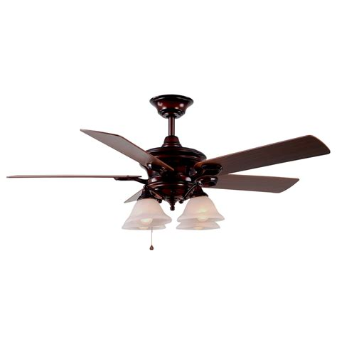 Ceiling Fan Rustic by Shop Harbor Bellhaven 52 In Rustic Bronze Downrod