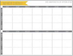 Two Week Calendar Template Free by Two Week Printable Calendar Calendar Template 2016