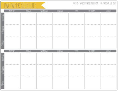 two week printable calendar calendar template 2016