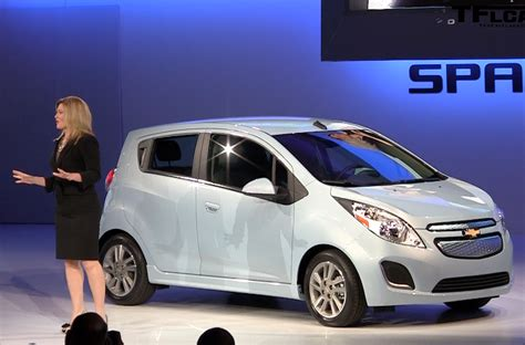 the 2014 chevrolet spark ev ignite the stage at the