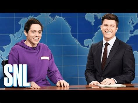 pete davidson update snl weekend update pete davidson on staten island snl