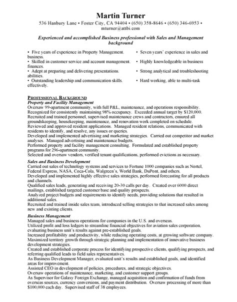 property manager resume exle property manager resume free resumes
