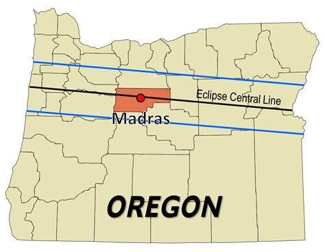 map of oregon total eclipse 2017 total solar eclipse madras oregon eclipse path