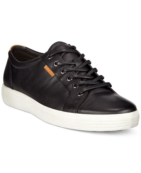 ecco s sneakers ecco s soft vii sneakers in black for lyst
