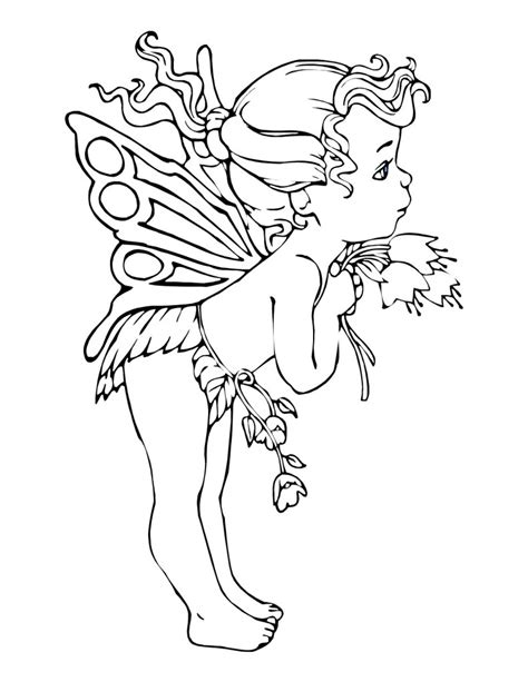 coloring page of fairy free printable fairy coloring pages for kids