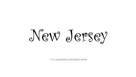 new jersey tattoos designs new jersey usa state name designs page 5 of 5