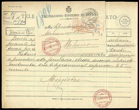 ufficio telegrammi storia postale italiana