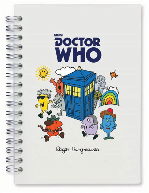 dr third doctor who roger hargreaves books doctor who mr notebooks merchandise guide the