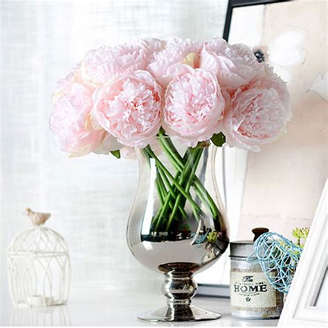 Silk Flower Arrangements Fake Flower Bouquets Shop | aliexpress com buy hot sale artificial fake peony silk