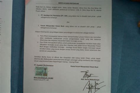 contoh berita acara negosiasi penawaran fontoh