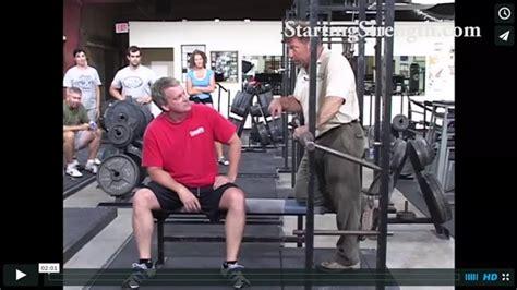 starting strength bench the bench press safety