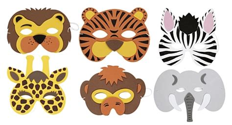 jungle animal mask templates 16 safari animal templates images jungle animals baby