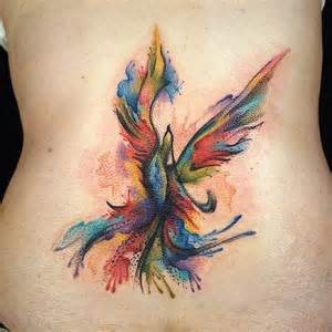 tattoo everyday today watercolor abstract phoenix