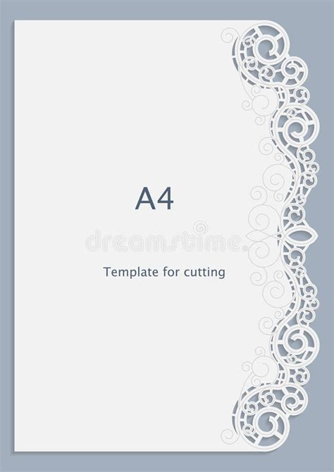a4 cards template a4 paper lace greeting card white pattern cut out