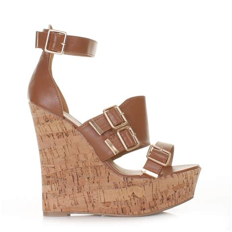 high cork wedge sandals wedge womens high heel cork gladiator platform sandals