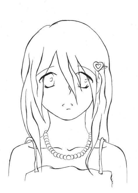 Coloring Page Of Sad Girl   sad woman free colouring pages