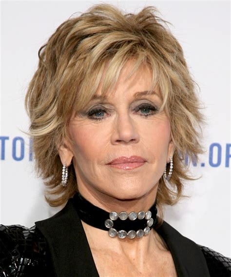 Jane Fonda Short Straight Formal Hairstyle with Layered
