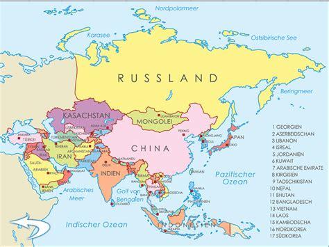 asien map asien karte world of map