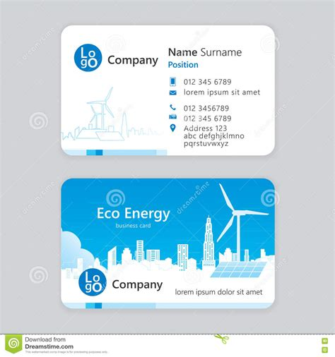 eco business card templates business card stock vector image 73359885