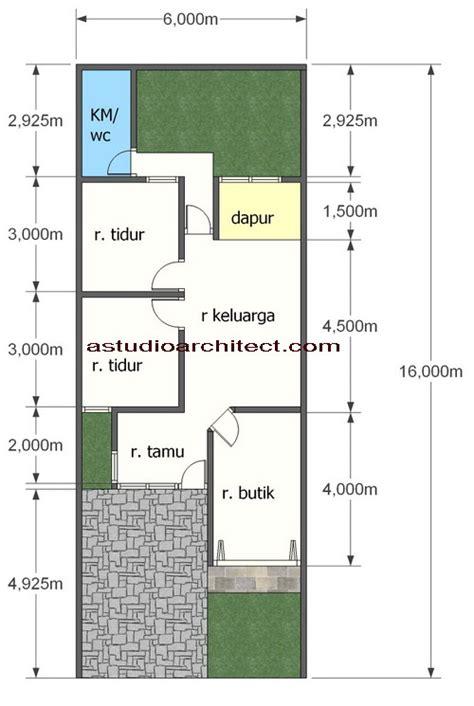 denah layout butik desain rumah gratis rumah dengan tempat usaha didepan