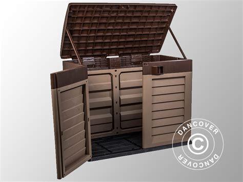 box porta attrezzi da giardino box porta attrezzi da giardino 146x87x119cm moca marone