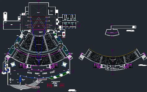 theatre dwg full project  autocad designs cad