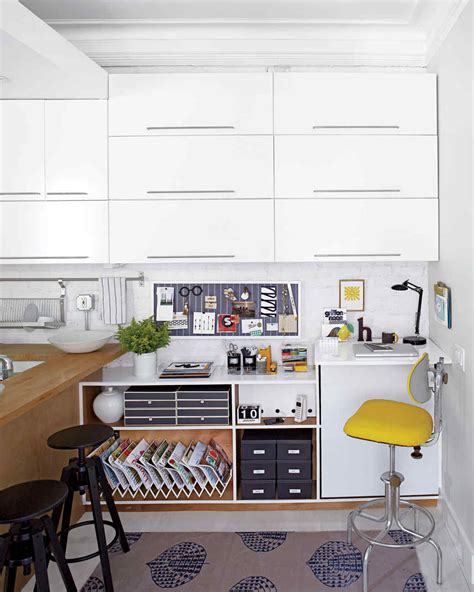 organized desk space desk organizing craft areas pinterest before and after a transformed desk area martha stewart