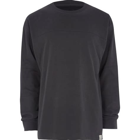 Panel Sleeve T Shirt grey panel oversized sleeve t shirt t shirts