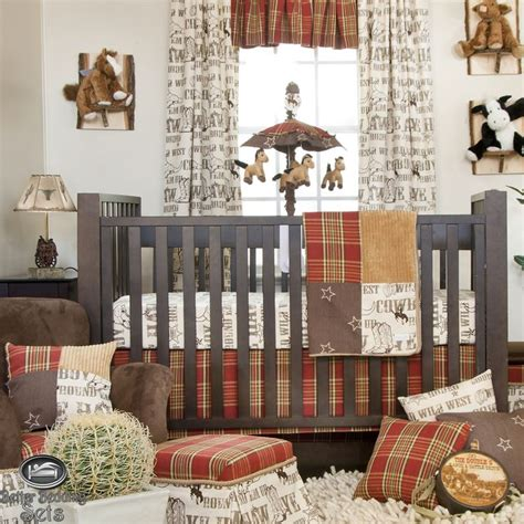 Western Baby Bedding Baby Boy Cowboy Horse Pony Western Cowboy Themed Crib Bedding