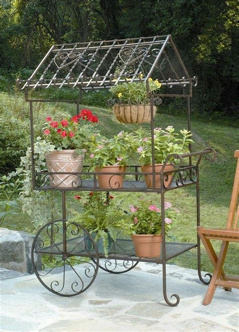 vintage wrought iron plant stands images