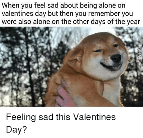Feeling Sad Meme - 25 best memes about alone on valentines day alone on