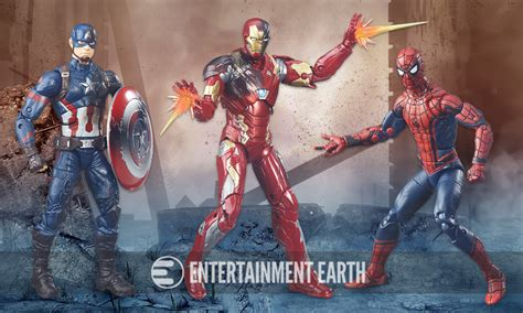 Figure Iron Set Of 3 new spider figure debuts in captain
