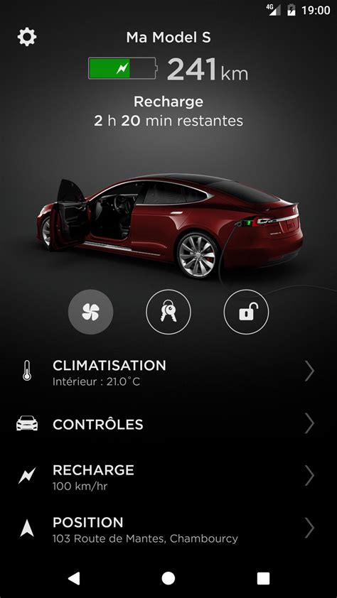 tesla application la nouvelle application tesla remplace la cl 233 par l