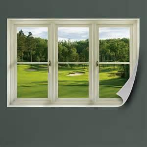 Golf Home Decor Golf Box Instant Window Wall Decal Shop Fathead 174 For Faux Window Wall