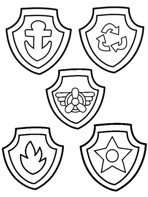 paw patrol coloring pages everest badge coloring page paw patrol badges of paw patrol 2