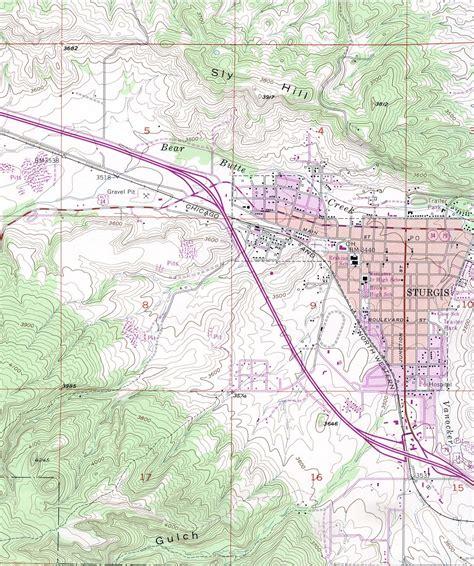 sturgis usa map south dakota maps perry casta 241 eda map collection ut
