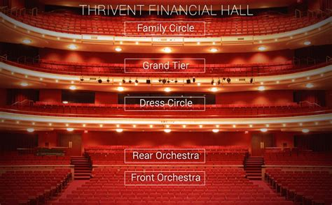 view your seats thrivent financial view from your seat orchestra