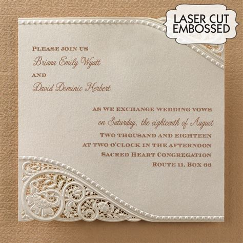 wedding invites australia laser cut vintage lace wedding invitations flamingo