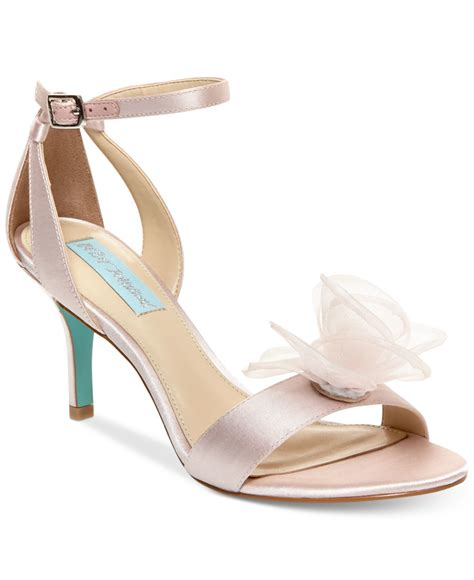 betsey johnson maddi evening sandals in pink lyst